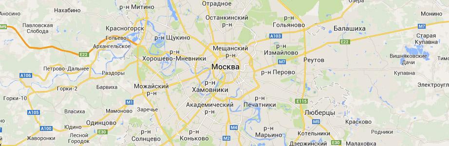Карта автодорог Российской