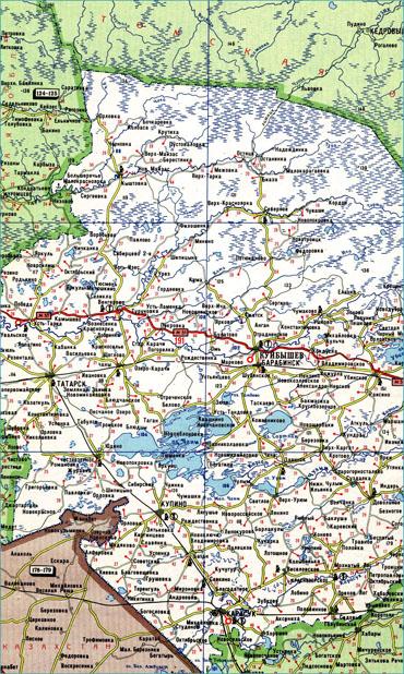 Бесплатно скачать подробный атлас автодорог Новосибирской области.  Для увеличения необходимо кликнуть на изображение!