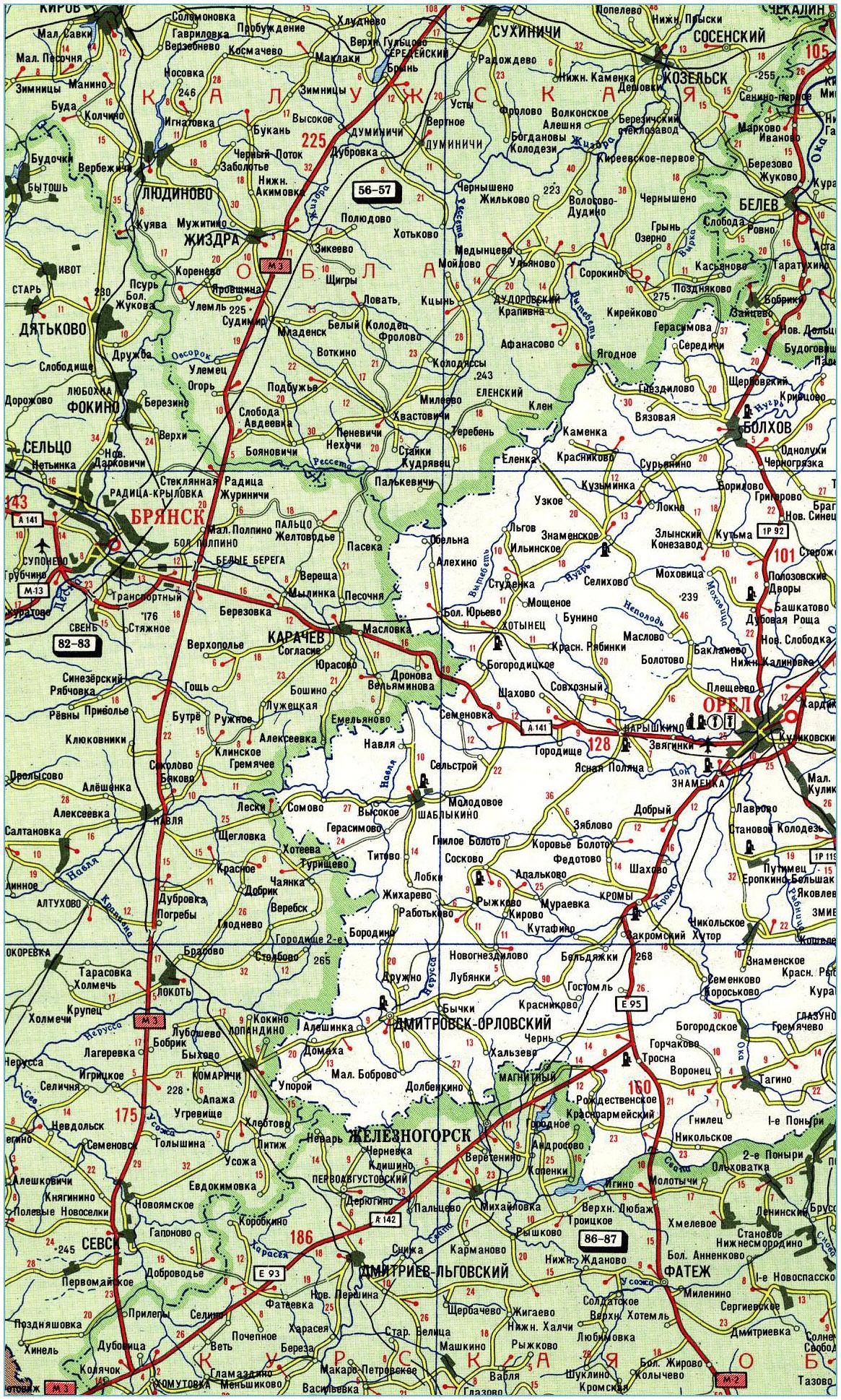 Подробная Карта Дорог Челябинской Области