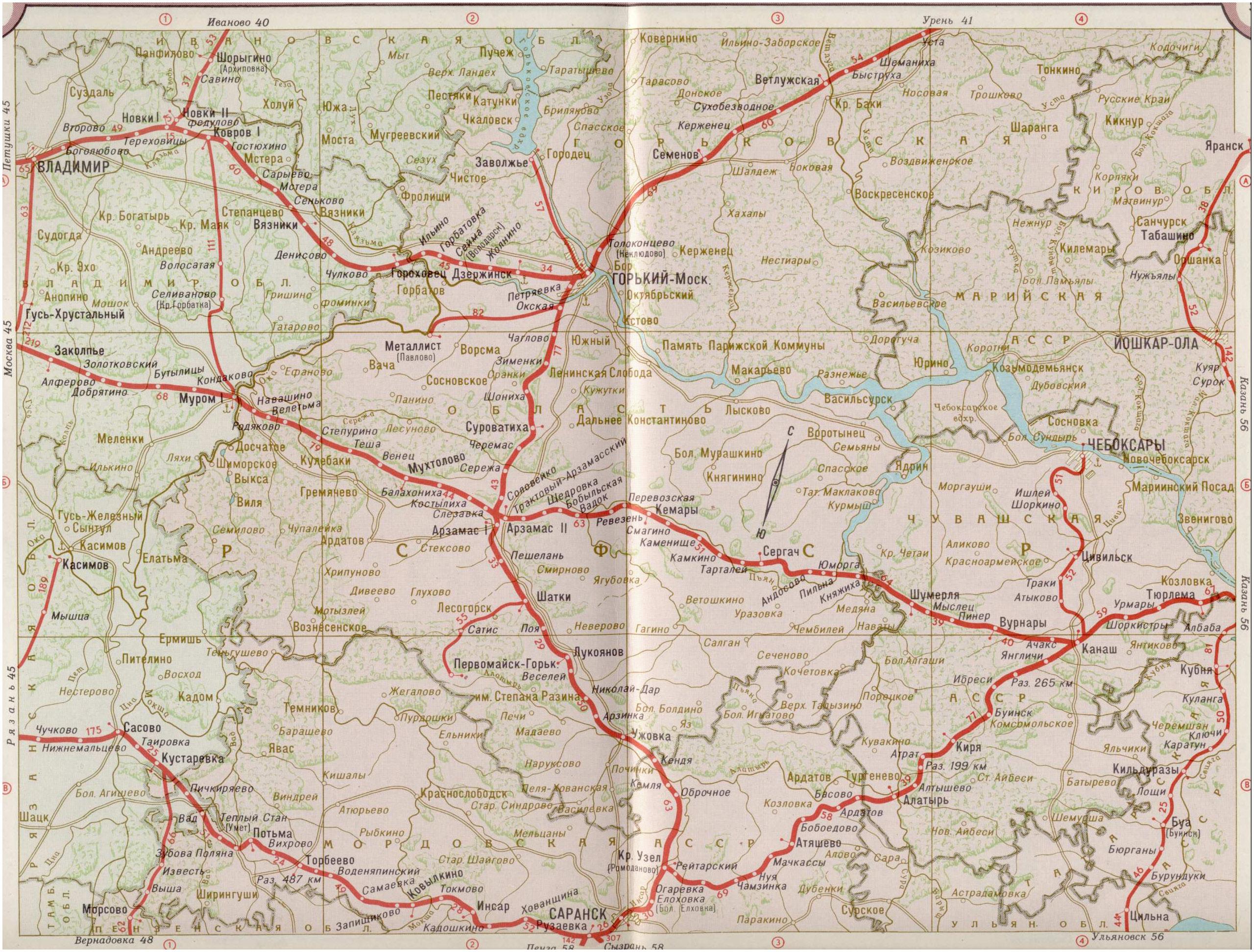 карта схема жд дорог