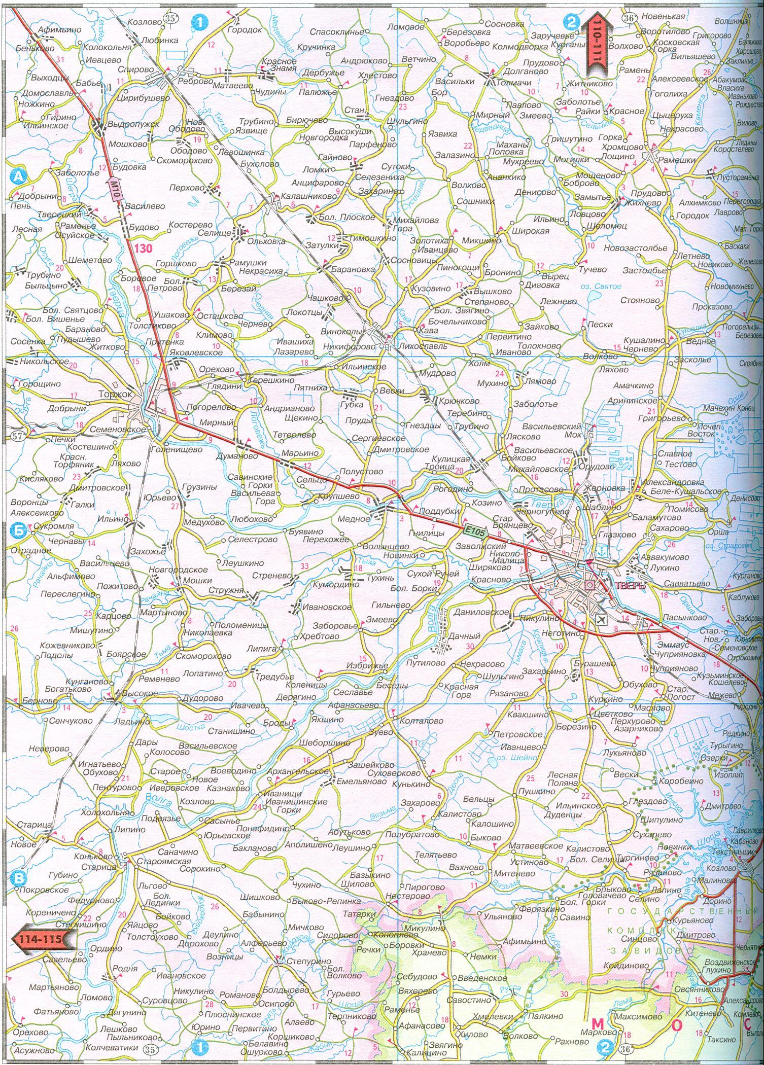 Векторная карта московской области