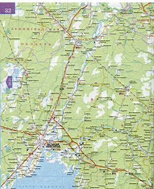 Карта автодорог Новгородской