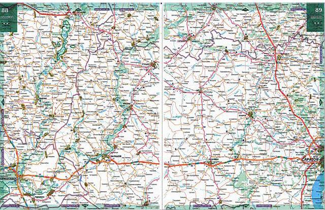 Карта-схема дорог москва