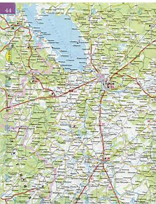 Карта автодорог Псковской