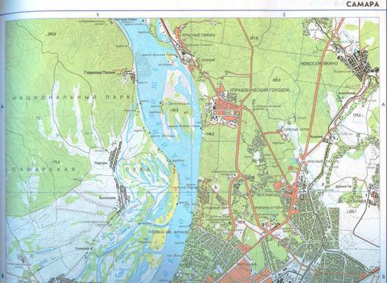 Карта города самара и пригорода карта