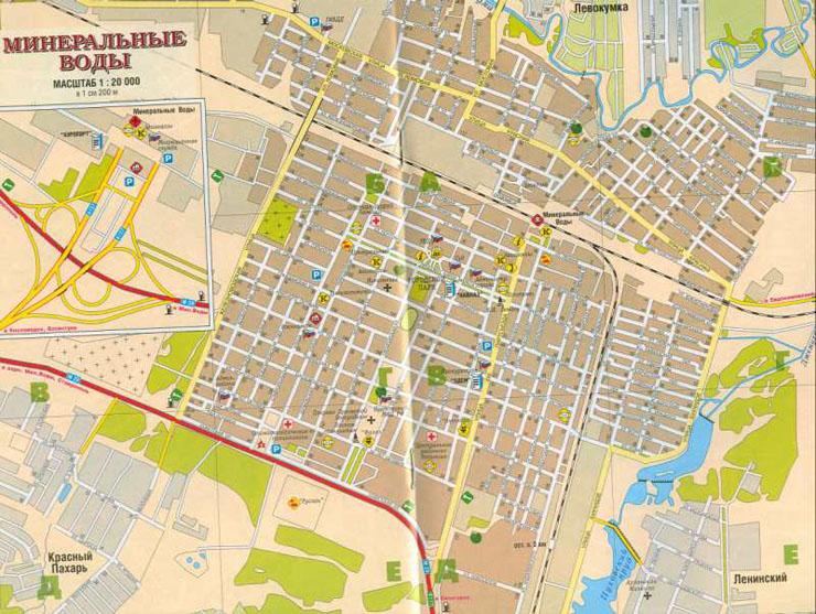 Карта Пятигорска С Улицами