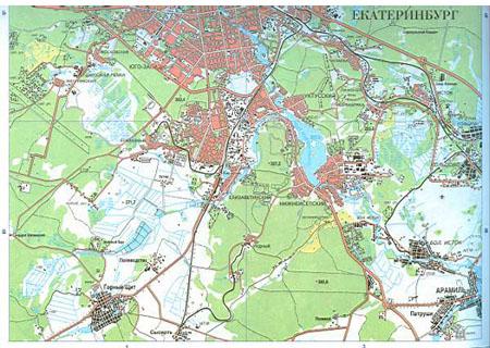 Карта г екатеринбурга подробная карта