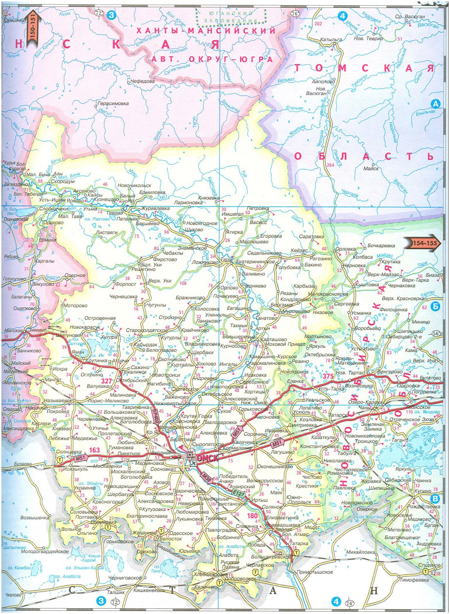 карта автодорог тюменской области:
