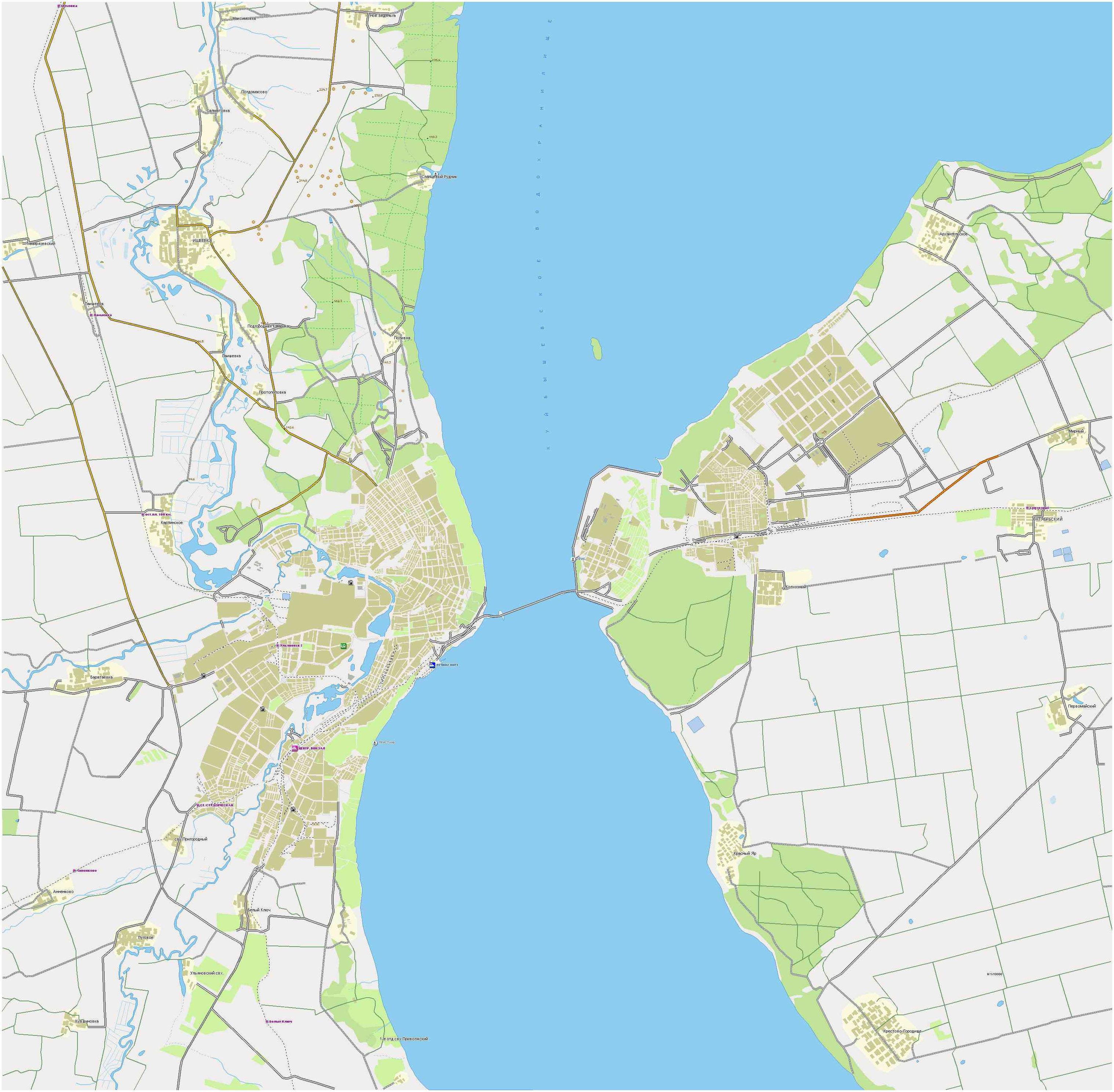 Подробная карта димитровграда карта