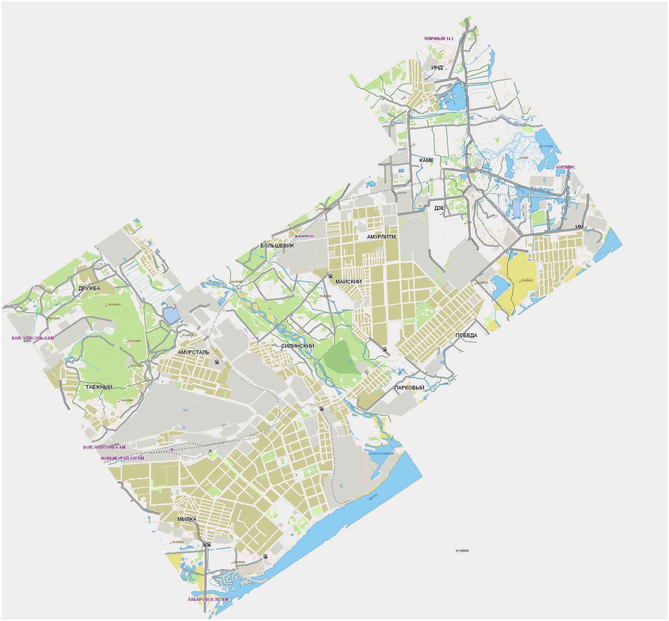 Карта Комсомольска-на-амуре: места и люди – Хабаровский ...