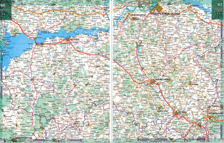 Карта Дорог Татарстана По Районам И Деревням