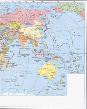 Политическая карта мира россия на