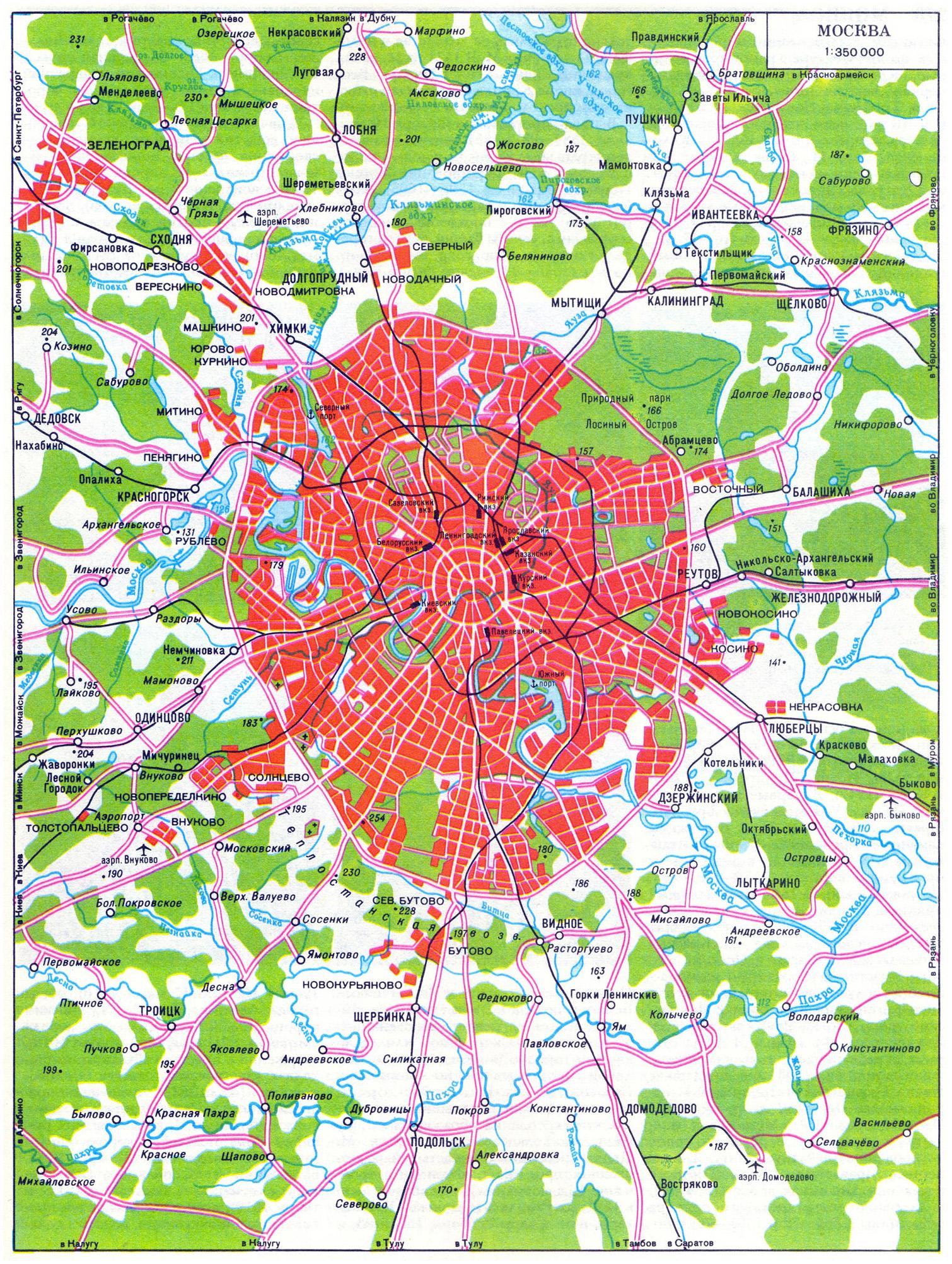 Карта автомобильных дорог Москвы. Все автодороги Москвы ...: http://www.rus-maps.com/russia-map-280/