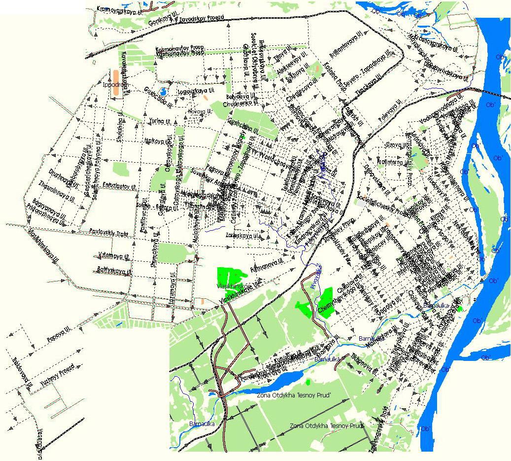 GPS карта г. Барнаул. Подробная GPS карта Барнаула для GPS ...: http://rus-maps.com/?p=1631