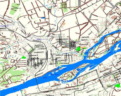 GPS карта г. Красноярск.