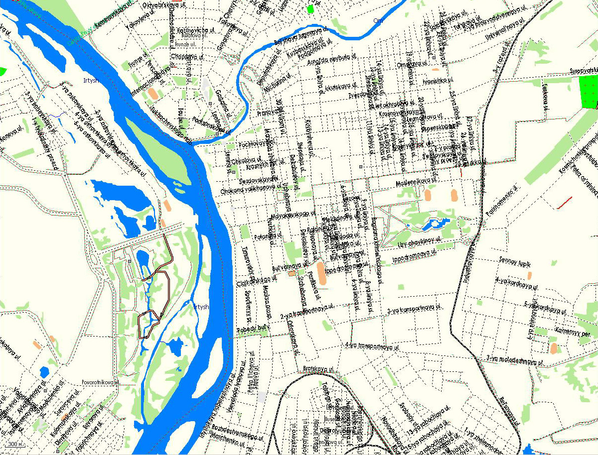 GPS карта г. Омск. Подробная GPS карта Омска для GPS ...: http://rus-maps.com/?p=1725