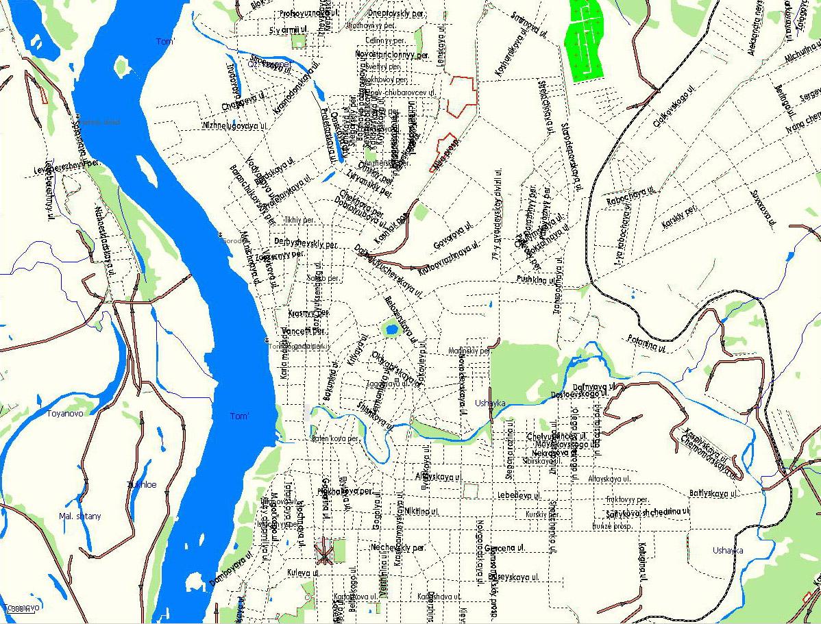 GPS карта г. Томск. Подробная GPS карта Томска для GPS ...: http://www.rus-maps.com/gps-map-44/