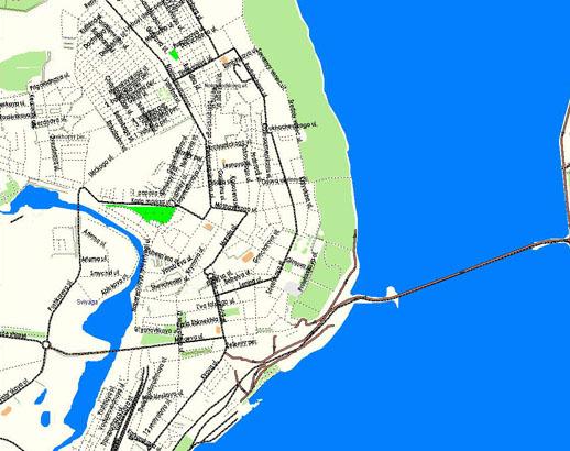 GPS карта г. Ульяновск для GPS навигаторов скачать бесплатно.  Бесплатная GPS карта Ульяновска , Россия.